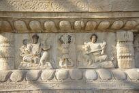 金刚宝座塔须弥座上的四大天王石像