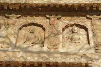 五塔寺金刚宝座塔上雕刻的佛像