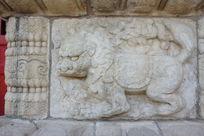 五塔寺金刚宝座塔须弥座上的五方佛坐骑狮子