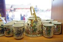 古典人物茶壶