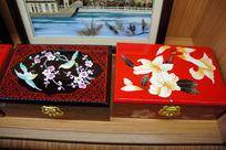 花卉化妆盒