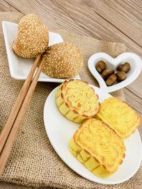 健康美食早餐栗子月饼