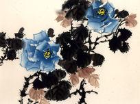 写意牡丹牡丹 国画