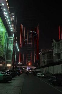 远看LG大厦夜景