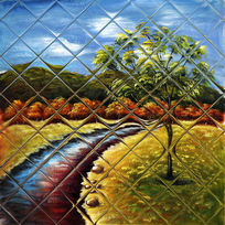 风景油画背景墙壁画