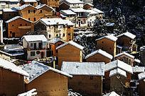 寂静的山村雪景