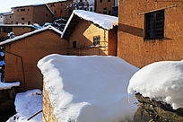 看阳产土楼雪景