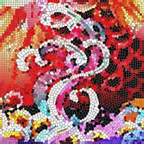 马赛克印花数码花型设计