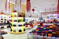 商场包包店铺新年实景图
