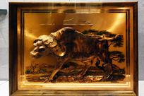 铜地木浮雕装饰座屏