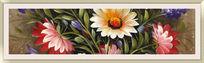 现代花卉床头装饰画
