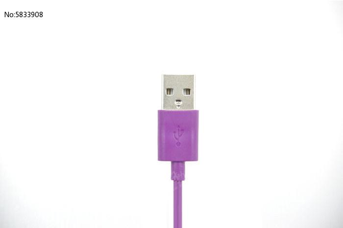 紫色 usb接口 插头 正面 数据线 手机线