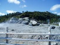 地质公园的护栏