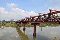 独特木质桥梁