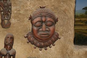 马赛人头像雕塑