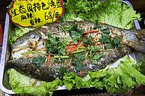 香辣烤鱼食材