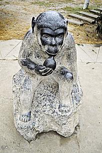 生肖石雕猴