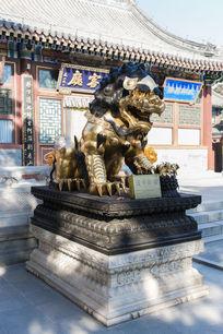鎏金狮子雕塑
