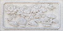 牡丹图案石刻