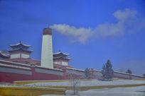 寺院里的的大烟囱