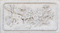 长尾鸟图案石刻