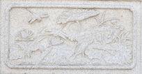 蜻蜓荷花图案石刻