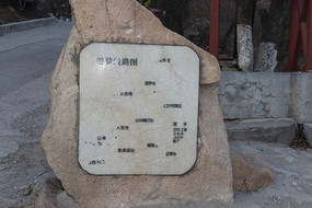浏览线路图石碑
