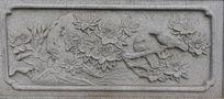 莲花花纹图案石刻