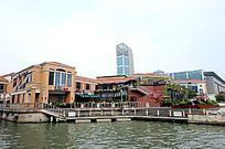 苏州金鸡湖休闲广场餐饮街