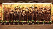 大型浮雕他们从南昌起义走来