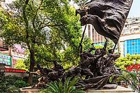 大型铜雕《南昌起义》
