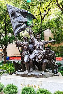 大型铜雕《南昌起义》打响第一枪