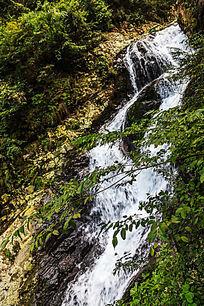 井冈山龙潭景区潺潺流水瀑布