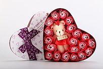草莓香礼盒装香皂花