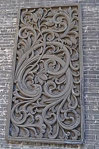 繁荣富贵墙画雕刻