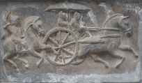 马车骑马浮雕
