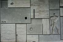 水泥墙装饰画