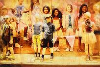 儿童服装画