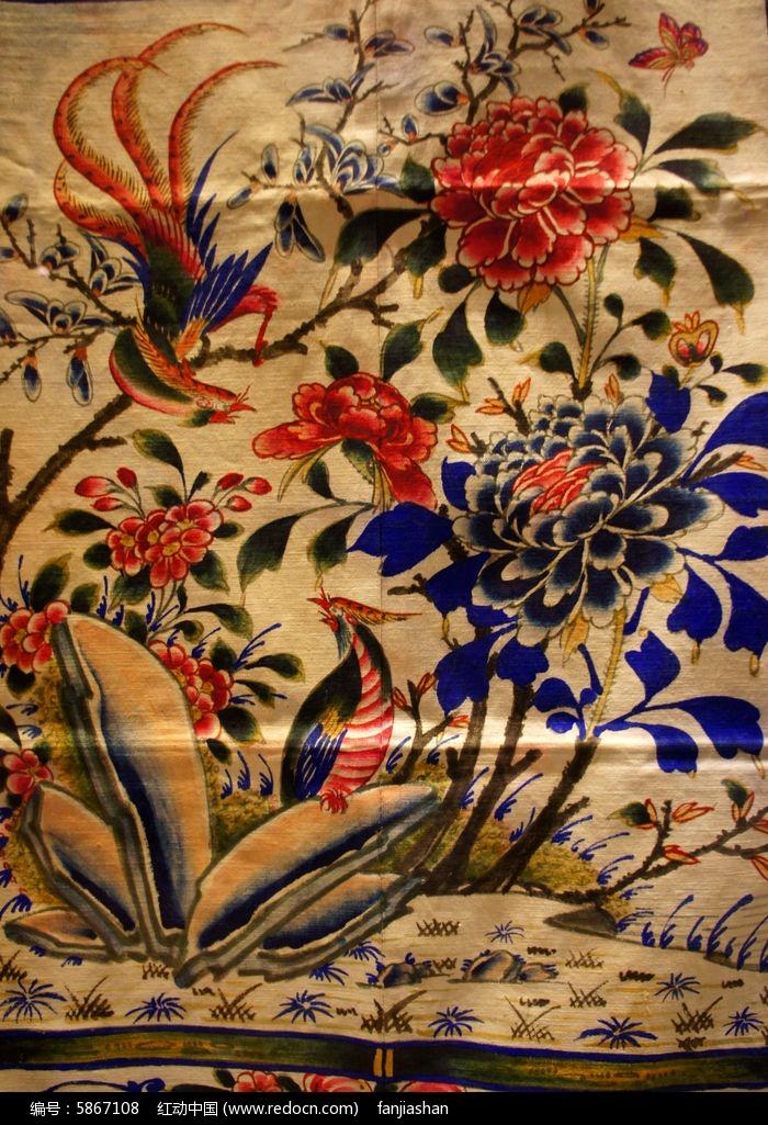 凤求凰针织图案图片,高清大图 传统工艺素材图片