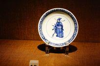 人物陶瓷盘