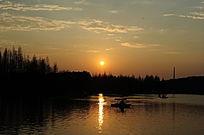 上海大宁灵石公园南湖夜景