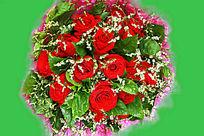 手棒玫瑰花
