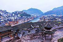 俯瞰湘西凤凰古镇