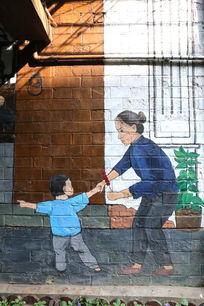 田子坊壁画老上海风情葫芦串