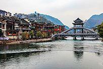 湘西凤凰古镇的枫桥建筑