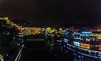 湘西凤凰古镇夜色风景