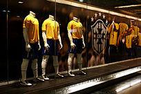 足球服装模特