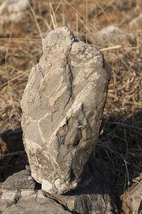 裹头妇人状奇石