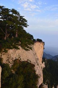 华山东峰山顶风景图片素材