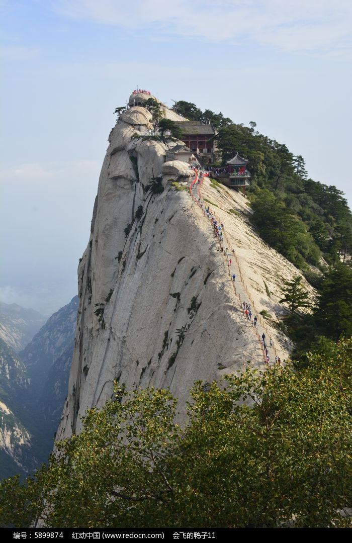 华山西峰山顶摄影图片素材图片